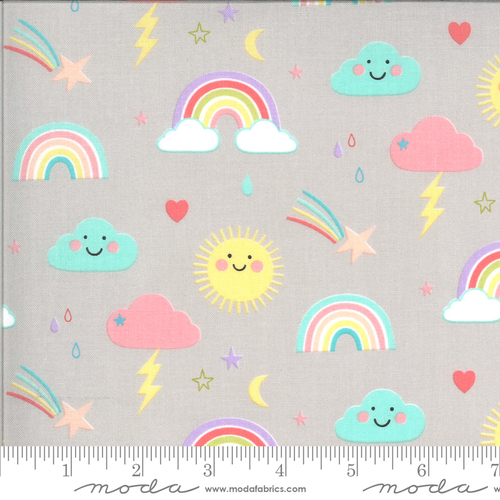 Moda Hello Sunshine Rainbows Cloudy 35350 12