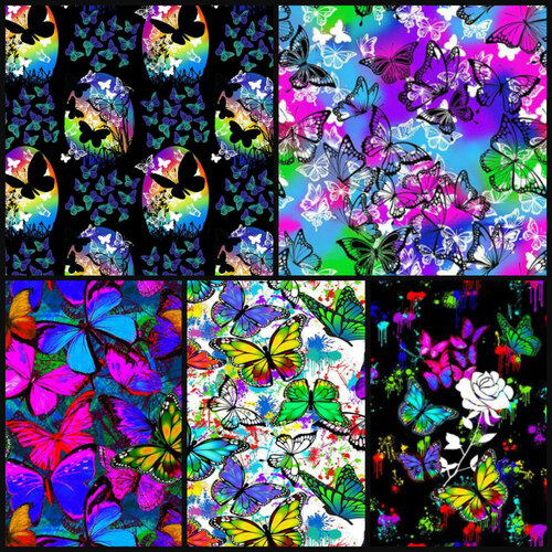 Butterflies in Flight Butterfly FQ Bundle