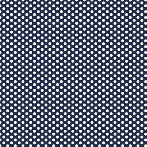 Devonstone Polked Polka Dots Navy DV2302