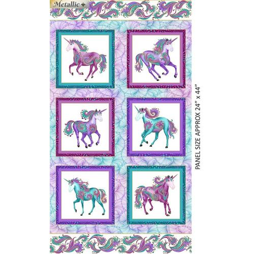 Believe In Unicorns Panel White 9009