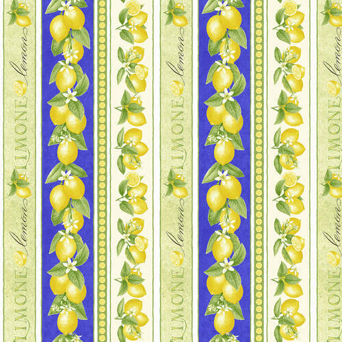 Just Lemons Border Stripe Print 9350-14