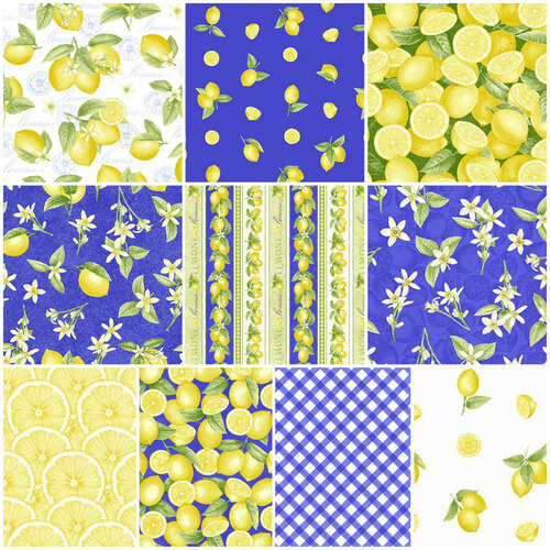 Just Lemons Fat Quarter Fabric Bundle