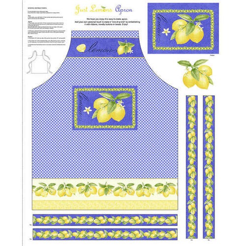 Just Lemons Apron Panel 9352P-74