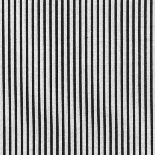 Medium Stripes Black White By the Metre