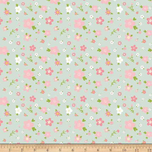 Fabric Remnant-Sweet Baby Floral 63cm