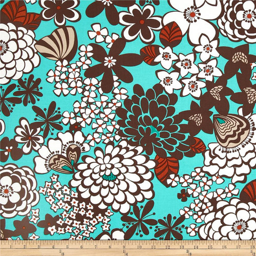 Satchi Mod Floral Turquoise