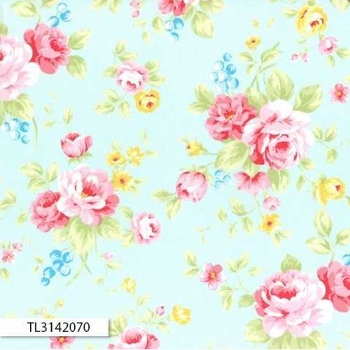 Antique Floral Main Rose Blue